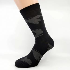 Črna bombažna nogavica žafran