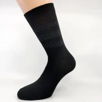 Klasična črna vzorčna nogavica