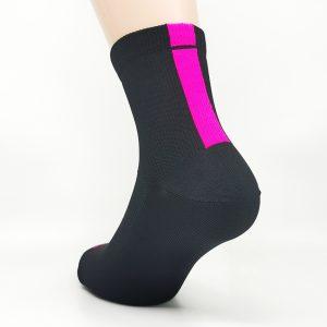 Kolesarska nogavica quarter - črna/pink