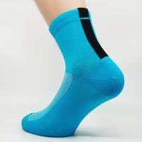 Kolesarska nogavica quarter - modra/črna