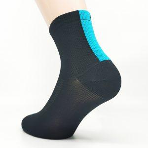 Kolesarska nogavica quarter - črna/modra