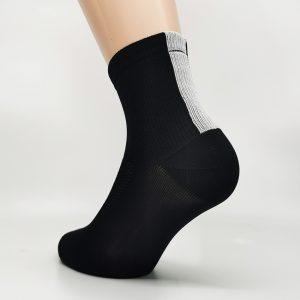 Kolesarska nogavica quarter - črna/bela