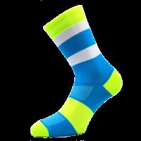 Kolesarska pKolesarska nogavica - modra/rumena/belaliamidna nogavica žive barve