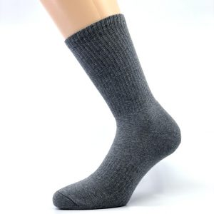 Športna polpliš bombažna nogavica - siva
