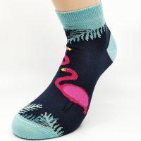 Nogavice Modri flamingo