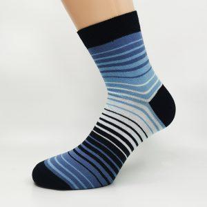 Nogavice White/Blue Zebra