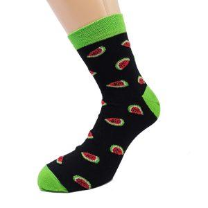 Nogavice Watermelon Black - bombažna quarter nogavica
