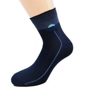 Nogavice Blue Dhalia Q - bombažna quarter nogavica