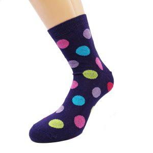Nogavice Violeta Q - bombažna quarter nogavica