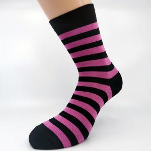 Črtasta bombažna nogavica pink