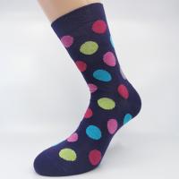 Vijolična bombažna nogavica pike