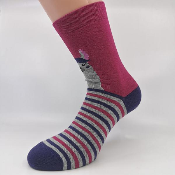 Vijolična gladka nogavica lama