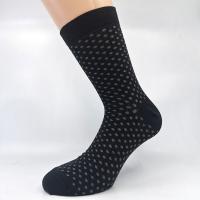 Črna pikčasta bombažna nogavica