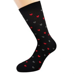 Nogavice Heart attack - bombažna visoka nogavica