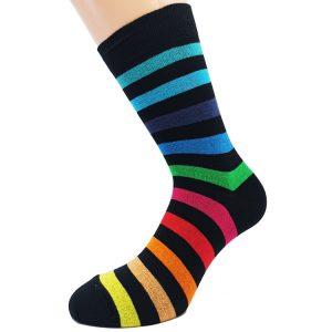 Nogavice Barve mavrice - bombažna visoka nogavica