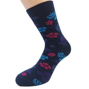 Nogavice Blossom - bombažna visoka nogavica