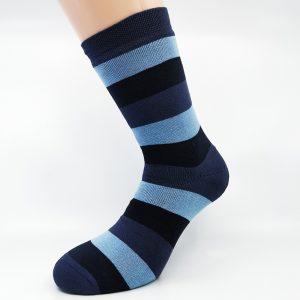 Nogavice Grey/Blue Lines