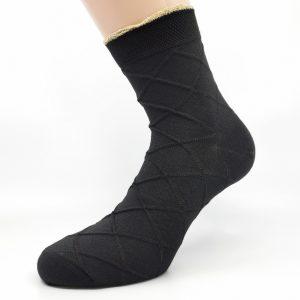 Nogavice 3D zlati/črni karo