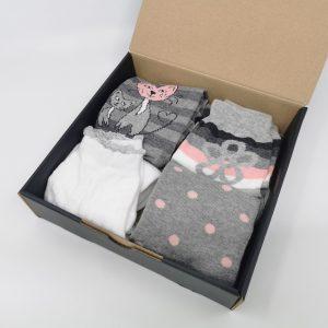 Darilni paket Mačja družina - 4 quarter nogavice