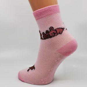 Nogavice Roza zajčki