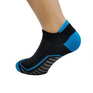 Nizka športna nogavica - črna/modra